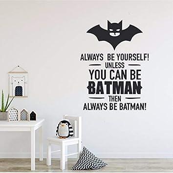 Pawang Jungen Zimmer Dekor Batman Stil Wandtattoos Immer