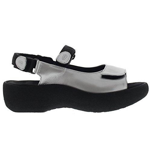 Wolky Womens 3204 Jewel Grey Leather Sandals 40 EU Wolky Jewel