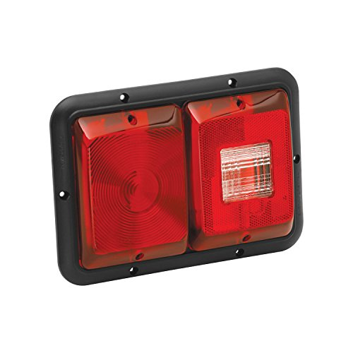 Bargman 34-84-008 Tail Light (Horizontal Mount Dual with Stop/Turn/Tail & Backup - Black (Bargman Tail Light Lens)