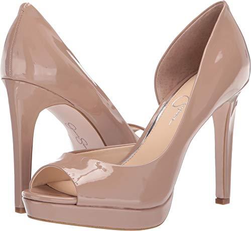 Jessica Simpson Women's DEISTA Shoe, Nude, 5.5 M US (Toe Jessica Open Heels)