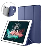 DTTO iPad Air 1st Edition Case - (NOT for iPad Air 2 and Air 3) Ultra Slim Lightweight Smart Trifold Stand with Flexible Soft TPU Back Cover [Auto Sleep Wake] - Navy Blue