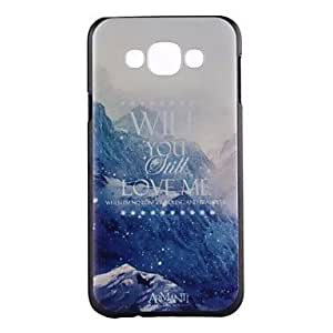 SHOUJIKE SAMSUNG Galaxy E7 Plastic Graphic/Special Design Back Cover