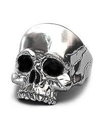 Men's Biker Rings Vintage Motorcycle Pinky Skull Mask Rings