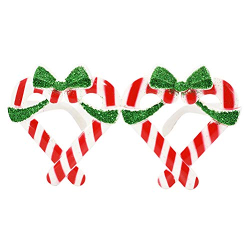 Tinksky Christmas Glitter Sunglasses Gift Box Frame Novelty Costume Glasses for Christmas Party Decoration Christmas Birthday Gift for Children