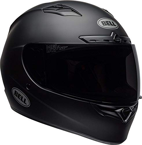 (Bell Qualifier DLX Blackout Street Motorcycle Helmet (Blackout Matte Black, Medium))