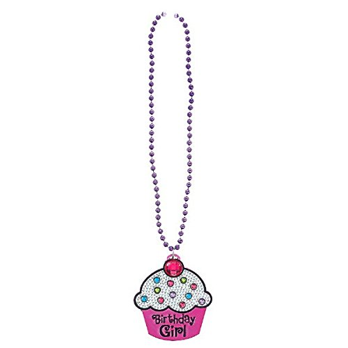 Amscan 396748 Fancy Birthday Chic Bling Necklace Accessories, Multicolor, 25 3/4
