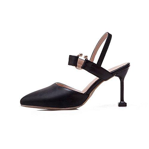 5 Noir Femme Compensées 36 BalaMasa Noir Sandales awTgYnqz