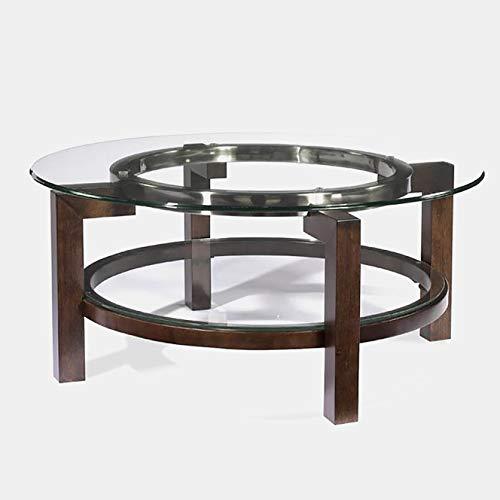 Wood Base Coffee Table - Coffee Table with Glass Top - Hardwood
