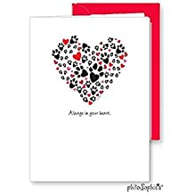 philoSophie's Stationery & Gifts by Joanna Alberti 'Always in your heart' pet sympathy card
