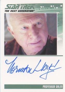 (Star Trek TNG Heroes & Villains Autograph Card Norman Lloyd as Professor Galen)