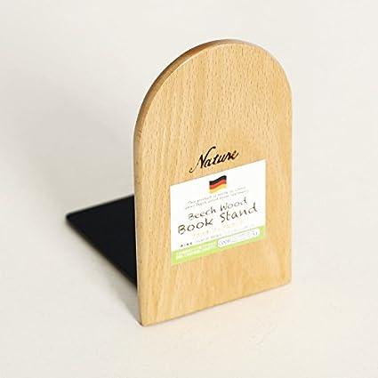 Buchstutzen Onever Natur Holz Bucherregal Anti Rutsch Stabiles