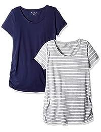 Motherhood Maternity Womens Bumpstart 2 Pack Short Sleeve Tee Shirts T-Shirt