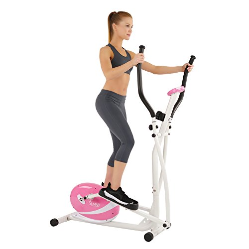 Sunny Health and Fitness Pink Magnetic Elliptical Trainer (Magnetic Sunny Elliptical)