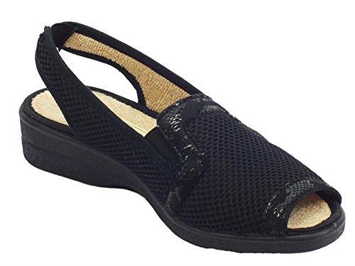 Noir pour Sandales Femme Noir Susimoda Susimoda pour Femme Sandales Y8qgR