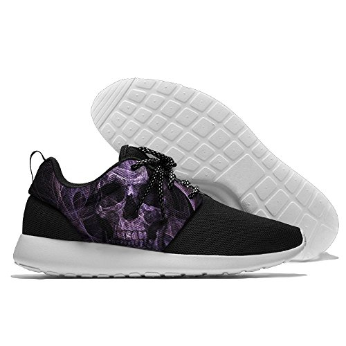 Purple Smoke Skull Men's Mesh Running Shoes Sneakers Breathable Athletic Workout Fitness Sports Shoes Trainers 40 (Sandals Smoke Sport)