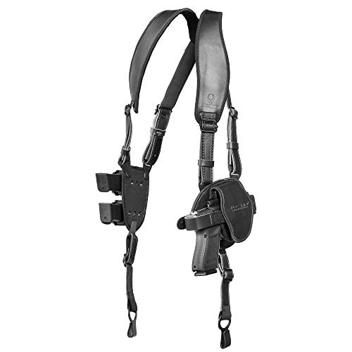 Alien Gear holsters ShapeShift Shoulder Holster (Black Leather) Springfield XD 4 Inch (Right Handed) (.45 ACP/10mm Double Stack)