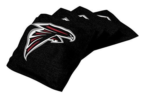 Wild Sports NFL Atlanta Falcons Black Authentic Cornhole Bean Bag Set (4 Pack)