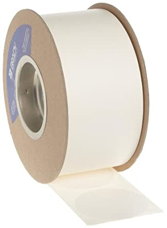 """Brady 3"""" Diameter, B-933 Vinyl Tape, White Color Roll Mounted Dots for Aisle Marking (1000 Dots Per Roll)"""