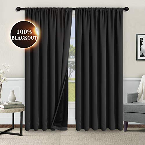 WONTEX 100% Thermal Blackout Curtains for Bedroom