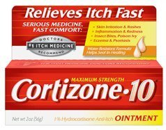 Cortizone-10 Itch Medicine Maximum Strength Ointment 1 Ounce (29ml) (6 Pack) by Cortizone 10