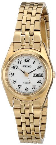 (Seiko Women's SUT118 Gold-Tone Stainless Steel)
