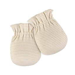 GoBabyGreen Baby Mittens, 100% Organic Cotton, No Scratch, Great For Newborns