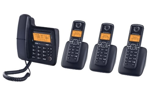 Motorola DECT 6.0 Corded Base Phone with Cordless Handset...