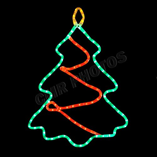 - Mountain Motifs Twinkle Christmas Tree Window Rope Light Decoration
