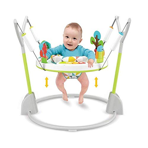 COLOR TREE Baby Activity Jumper and Bouncer with Lights, Melodies, and Einstein Toys,Foldaway Jumper for Baby Girls Boys