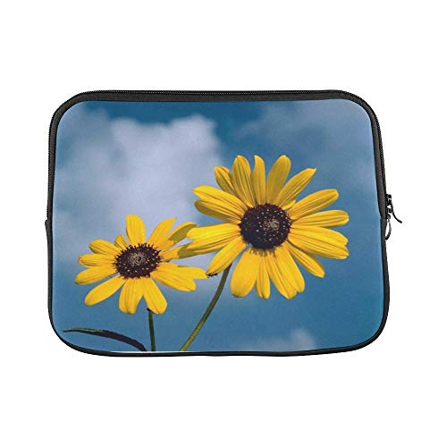 (Design Custom Sunflowers Flowers Yellow Helianthus Sun Nature Sleeve Soft Laptop Case Bag Pouch Skin for MacBook Air 11
