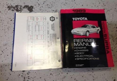 1989 TOYOTA SUPRA Service Shop Repair Workshop Manual Set FACTORY W SPECS CHART