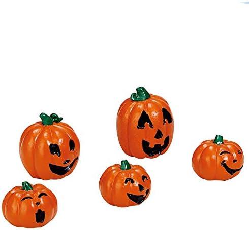 Lemax Spooky Town Halloween Pumpkin Family Jack O Lantern Set Of 5