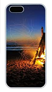 Apple iPhone 5S Case,iPhone 5S Cases - Beach Bonfire PC Custom iPhone 5S Case Cover for iPhone 5S - White