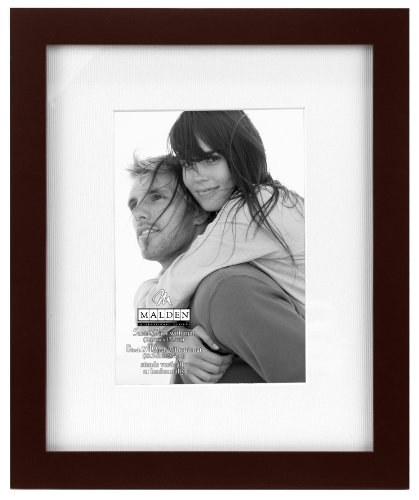Frame 5x7 Rectangle Photo (Malden International Designs Matted Linear Classic Wood Picture Frame, 5x7,)