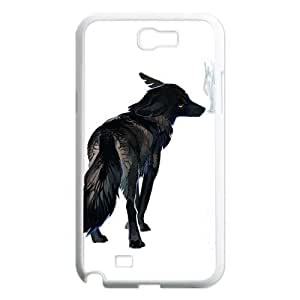 Wolf with moon,sunset series Case Cover Best For Samsung Galaxy Note 2 Case FKLB-T517971