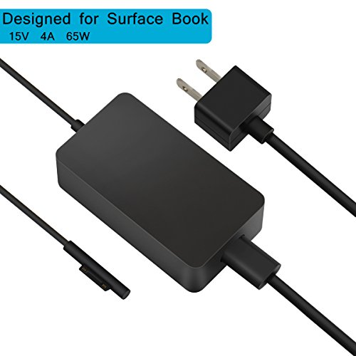 Surface Book Charger & Book 2 Charger,BINZET 15V 4A 65W Portable Charger...