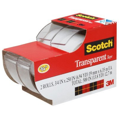 """3m 2157ss 3/4"""" X 250"""" ScotchTransparent Tape 2 Count"""
