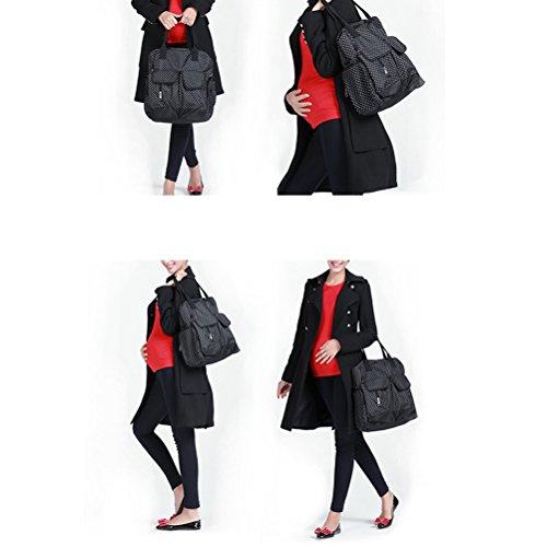 Zhhlinyuan Bag Red Rose Handbag Baby Backpack Diaper Mummy Nappy Multifunción Holder Bottle Hot rYgqwTUr