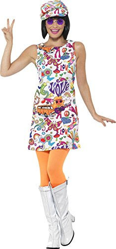 60s Women (Smiffy's Women's 60s Groovy Chick Costume, Multi, Large)
