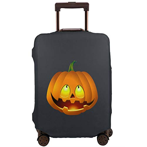 MKJIH Pumpkin Face Halloween Travel Suitcase Protector Zipper Suitcase Protector Bag Baggage Suitcase Protector Cover Fit 18-32 Inch]()