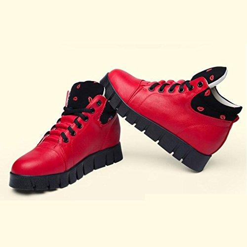 2017 Herbst Casual Sneaker Paare Schuhe High Top Trekking Schuhe Atmungsaktive Sport Wanderschuhe Ports Outdoor Rutschfeste Dämpfung Stiefel 35-40 Rot