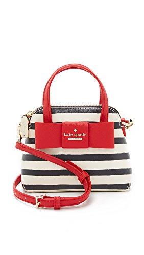 Kate Spade New York Women's Striped Mini Maise Cross Body Bag, Rich Navy/Cream, One ()