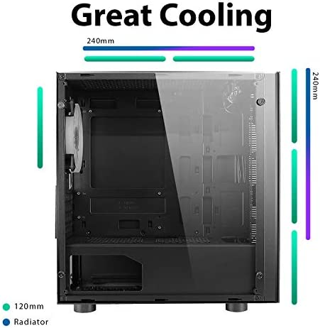 CiT - Case Mid-Tower Micro-ATX & Mini ITX da gaming, Raider Seven RGB.