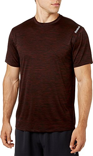 (Reebok Men's Spacedye Performance T-Shirt (Burnt Sienna/Caviar Dd, M))