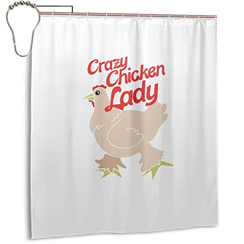 (YL ZMSHOP Shower Curtain Liner 66 X 72 Inches Bath Stall Size -)