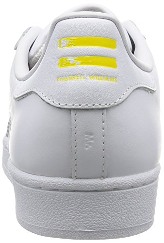 adidas Superstar Pharrell Supershell - Zapatillas Para Hombre, Blanco/Amarillo, 43 1/3