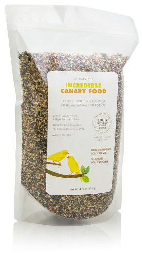 Dr. Harvey's Incredible Canary Blend, Natural Food for Canaries (4 pounds) (Best Canary Seed Mix)