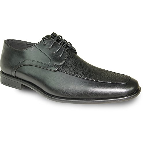 BRAVO Men Dress Shoe NEW KELLY-1 Classic Oxford with Leather Lining Black Matte SmgcTi