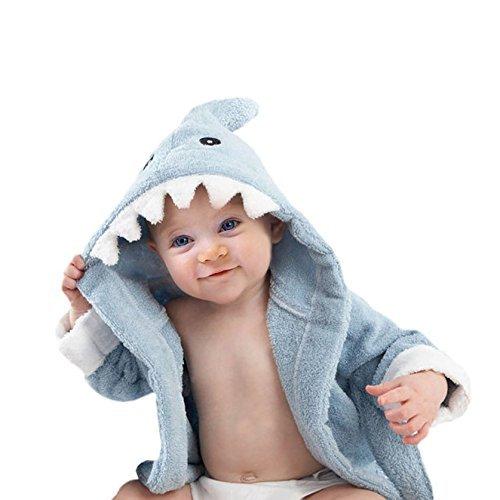 Aautoo Baby Towel Hooded Bathrobe,blue,0-12 Months