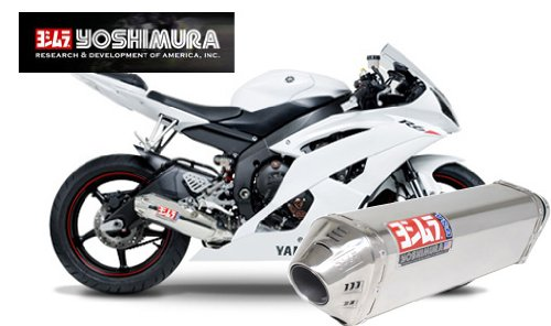 (Yoshimura TRC Polished Stainless Steel Tri-Oval Slip On Exhaust System - Yamaha YZF-R6 2006-2010)